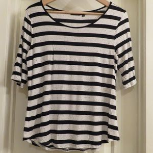 Apt. 9 black and white striped shirt